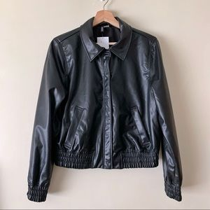 H&M Bomber Style Faux Leather Jacket